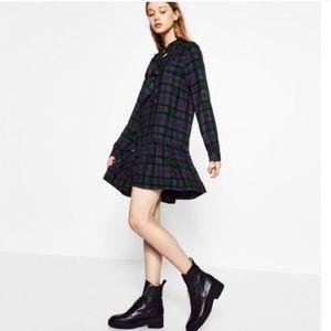 Zara Plaid Mini Dress